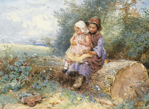 Art Prints of The Little Nurse by Myles Birket Foster