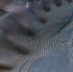 Art Prints of Dunes in Noachis Terra Region of Mars by NASA