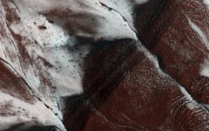 Art Prints of Frosty Slopes on Mars by NASA