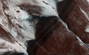 Art Prints of Frosty Slopes on Mars by NASA