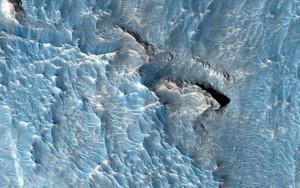 Art Prints of Light Tones Deposit in the Aureum Chaos Region on Mars by NASA
