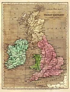 Art Prints of Great Britain and Ireland, 1836 (2022013) by Gilbert and Huntington