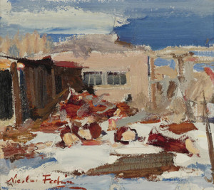 Art Prints of Adobe Houses by Nicolai Fechin