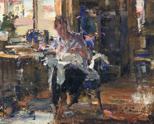 Art Prints of At Home in New York by Nicolai Fechin