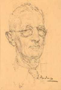 Art Prints of Man with Glasses by Nicolai Fechin