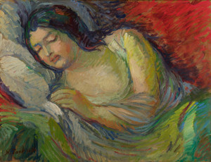 Art Prints of Woman Sleeping by Nikolai Aleksandrovich Tarkhov