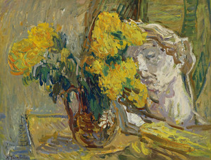 Art Prints of Still Life with Bust by Nikolai Aleksandrovich Tarkhov