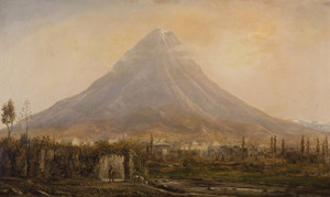 Art Prints of Vista del Popocatepetl Desde Cholula by Norton Bush