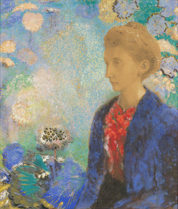 Art Prints of Baronne de Domecy by Odilon Redon