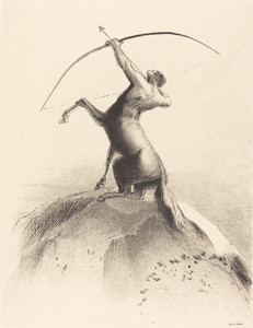 Art Prints of Centaur Aiming at the Clouds, 1895 by Odilon Redon