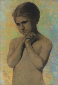 Art Prints of Nude Child by Odilon Redon