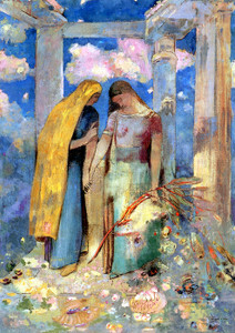Art Prints of Mystical Conversation by Odilon Redon