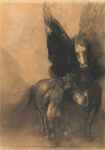 Art Prints of Pegasus and Bellerophon by Odilon Redon