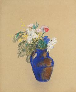 Art Prints of Vase of Flowers by Odilon Redon