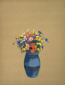 Art Prints of Vase of Flowers, Blue Vase by Odilon Redon