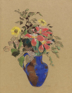 Art Prints of Vase of Flowers III by Odilon Redon