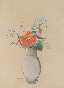 Art Prints of Vase of Flowers II by Odilon Redon