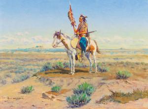 Art Prints of Indian on Horseback by Olaf Carl Seltzer