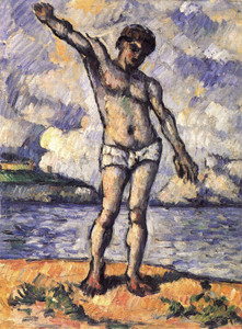 Art Prints of Bather with Outstretched Arms by Paul Cezanne
