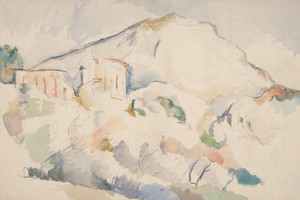 Art Prints of Chateau Noir and Mont Saint Victoire by Paul Cezanne