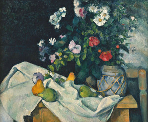 Art Prints of Flowers in a Ginger Jar by Paul Cezanne