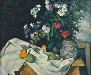 Art Prints of Flowers in a Ginger Jar by Paul Cezanne