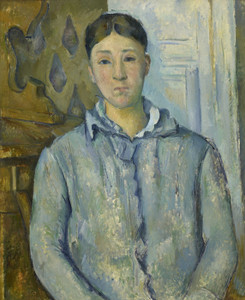 Art Prints of Madame Cezanne in Blue by Paul Cezanne