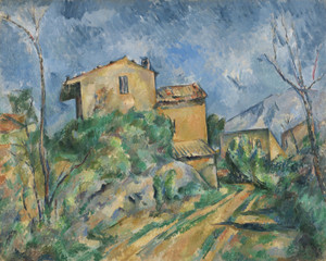 Art Prints of Maison Maria with a View of Chateau Noir by Paul Cezanne