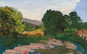 Art Prints of Midi Landscape by Paul Cezanne