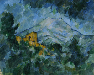 Art Prints of Mont Saint Victorie and Chateau Noir by Paul Cezanne