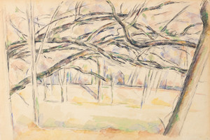 Art Prints of Orchard by Paul Cezanne