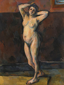 Art Prints of Standing Naked Woman by Paul Cezanne
