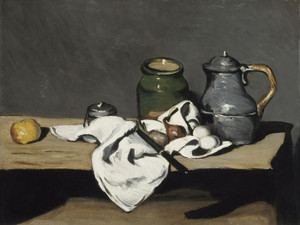 Art Prints of Still Life with Kettle by Paul Cezanne
