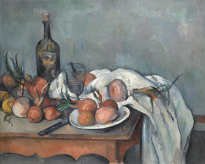 Art Prints of Still Life with Onions by Paul Cezanne