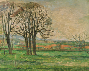 Art Prints of The Bare Trees at Jas de Bouffan by Paul Cezanne