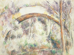 Art Prints of The Bridge at Trois Sautets, France by Paul Cezanne