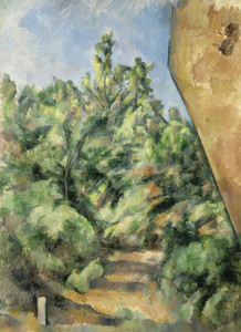 Art Prints of The Red Rock by Paul Cezanne