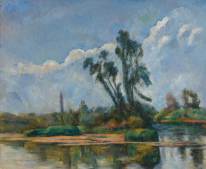 Art Prints of The River by Paul Cezanne
