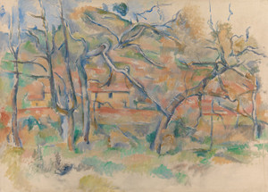 Art Prints of Tress and Houses by Paul Cezanne