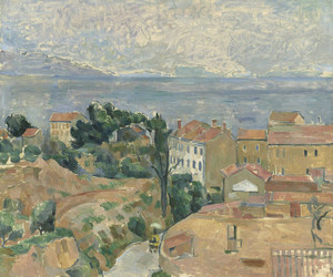 Art Prints of View of L'Estaque by Paul Cezanne