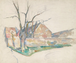 Art Prints of Winter Landscape by Paul Cezanne