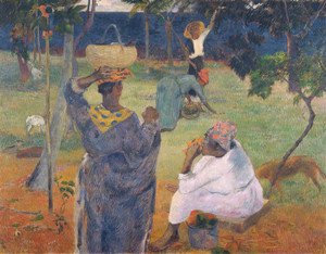 Art Prints of Among the Mangoes at Martinique by Paul Gauguin