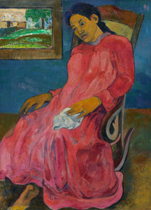 Art Prints of Faaturuma or Melancholic by Paul Gauguin