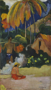 Art Prints of Landscape in Tahiti, Mahana Maa by Paul Gauguin