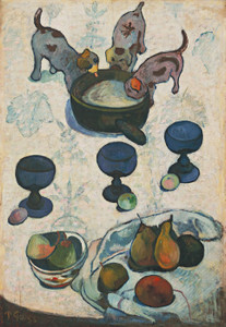 Art Prints of Still Life with Three Puppies by Paul Gauguin