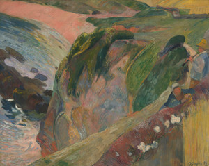 Art Prints of The Flageolet Player on the Cliff by Paul Gauguin