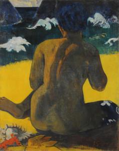 Art Prints of Vahine no te Miti (Woman at the Beach) by Paul Gauguin