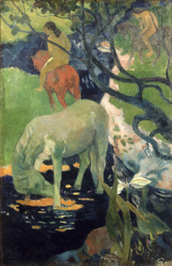 Art Prints of The White Horse by Paul Gauguin