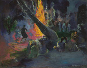 Art Prints of Upa Upa or The Fire Dance by Paul Gauguin