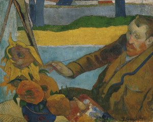 Art Prints of Vincent Van Gogh Painting Sunflowers by Paul Gauguin